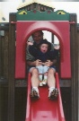 Cora and Daddy on the Slide
