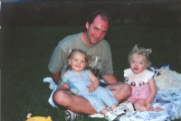 Cora, Catie, and Daddy