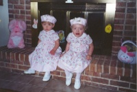 Cora and Catie in their Easter Dresses