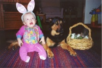 Cora and Ezra at Easter