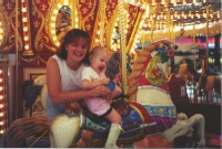 Cora and Mommy on the Carousel